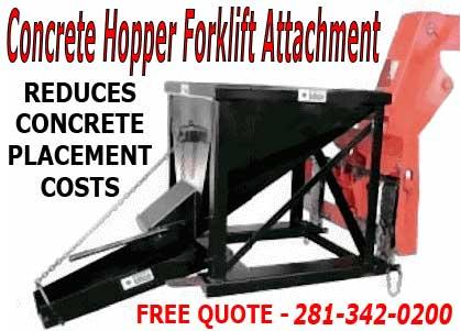 Dump Hopper With Elephant Trunk Concrete Chute Forklift