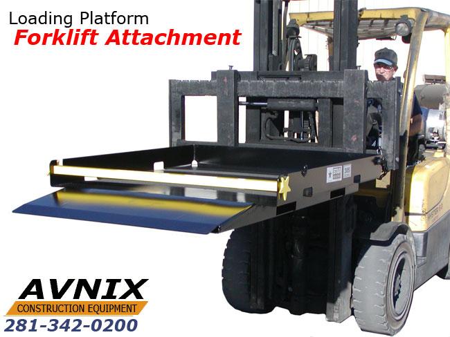 Safety Loading Platform Forklift Attachment For Sale
