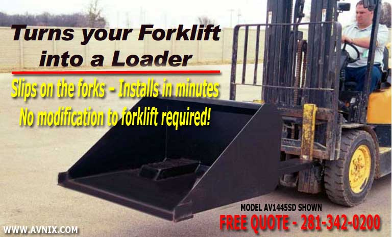 Self Dumping Front End Loader Bucket Forklift Attachments For Sale - Free Quotes