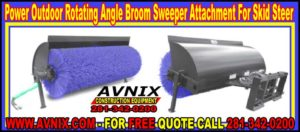 Outdoor Snow Rotory Angle Broom Sweeper Attachment For Skid Steer Loader For Sale At Discount Prices