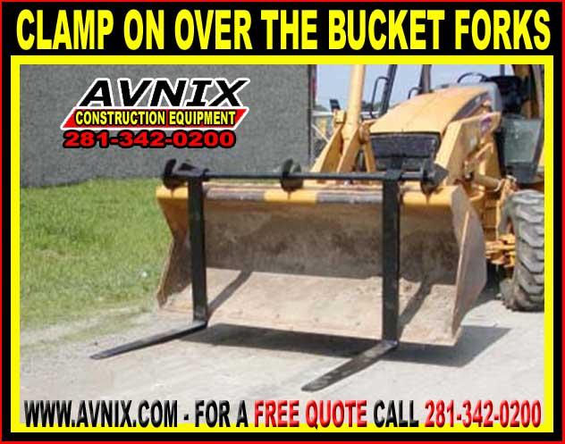 bucket clamp skid steer attachments archives avnix heavy duty construction