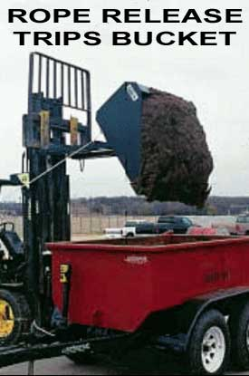 Dumping Bucket Fork Lift Atachment