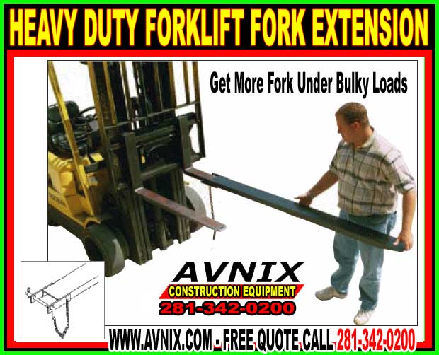 Heavy Duty Fork Lift Extensions : Forklift fork extensions get more under heavy loads