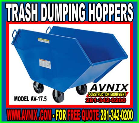 Cheap Garbage Dump Hoppers For Sale At Discount Pricing