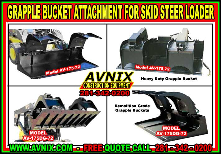 Cheap Grapple Bucket Attachment For Skid Steer Loader For Sale At A Discount