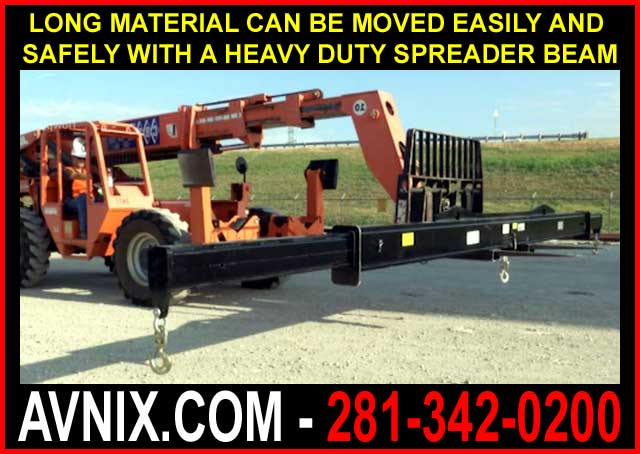 Telehandler Forklift Lifting Beam Attachment Can Easily