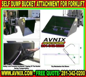 Discount Self Dump Bucket Attachment For Forklift For Sale Cheap Made In USA