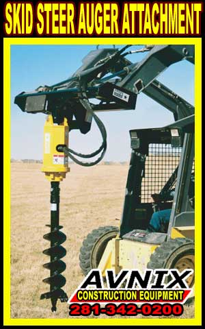 Auger Attachment For Skid Steer Loaders Telehandlers