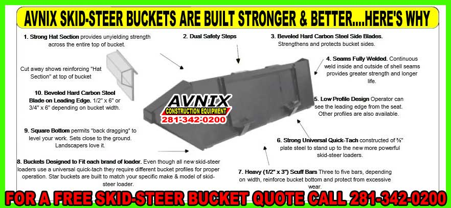 Skid Steer Bucket Attachment For Sale At Discount Pricing