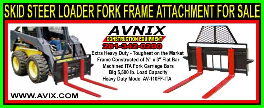 Skid Steer Loader Fork Attachment For Sale Cheap At Discount Prices