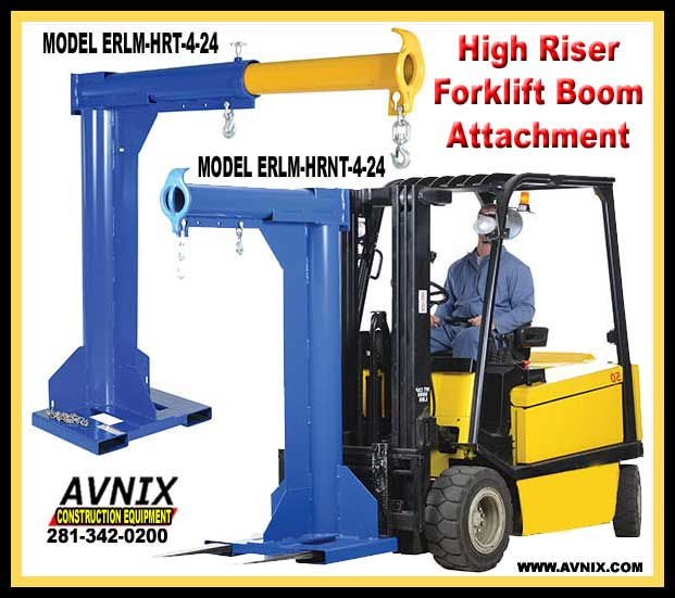 Heavy Duty Fork Lift Extensions : Fantastic forklift boom attachment for sale made in usa