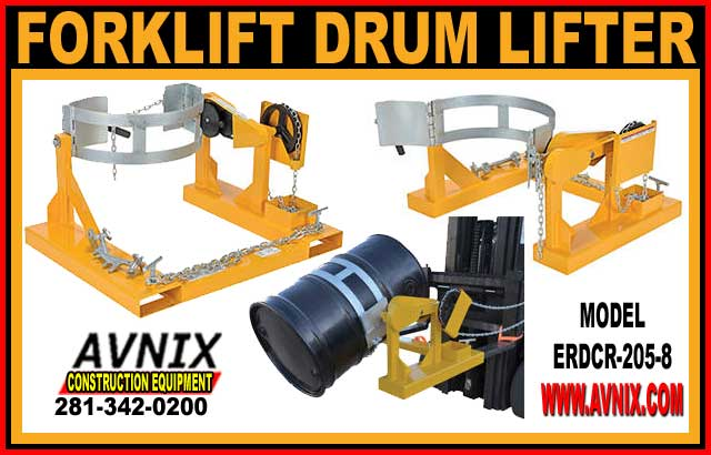 Forklift Drum Lifter & Rotator Attachment For Sale – Made In