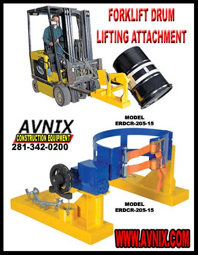 Forklift Drum Lifting Attachment