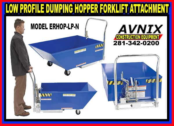 Low Profile Dumping Forklift Hoppers For Sale Wholesale