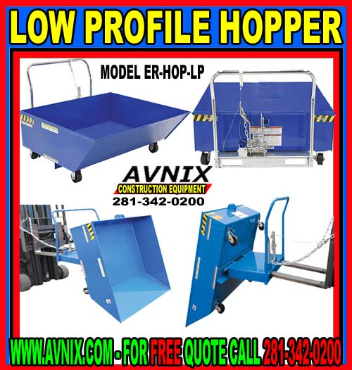Low Profile Hopper For Sale At A Discount