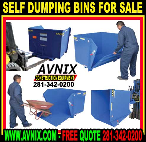 Steel Self Dumping Bin For Forklift For Sale