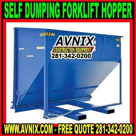 Self Dumping Forklift Hoppers For Sale Wholesale Prices