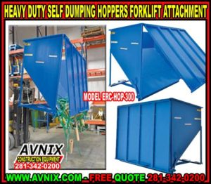 Self Dumping Forklift Hoppers For Sale At Discount Wholesale Pricing