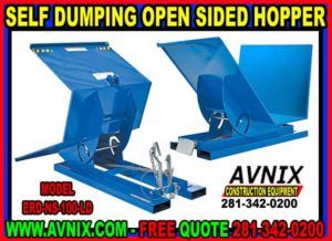Discount Self Dumping Open Sided Hopper For Sale