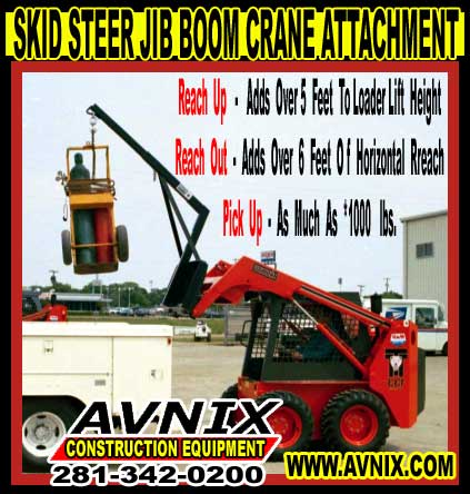 Heavy Duty Skid Steer Crane Jib Boom Attachment For Sale