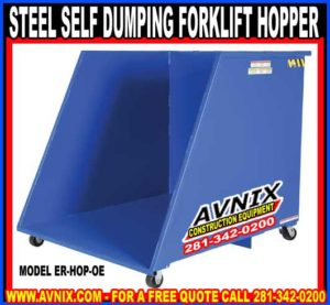 Steel Self Dumping Forklift Hopper For Sale Wholesale Prices