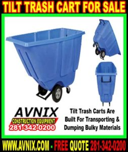 Tilt Trash Cart For Sale Cheap Discount Wholesale Prices