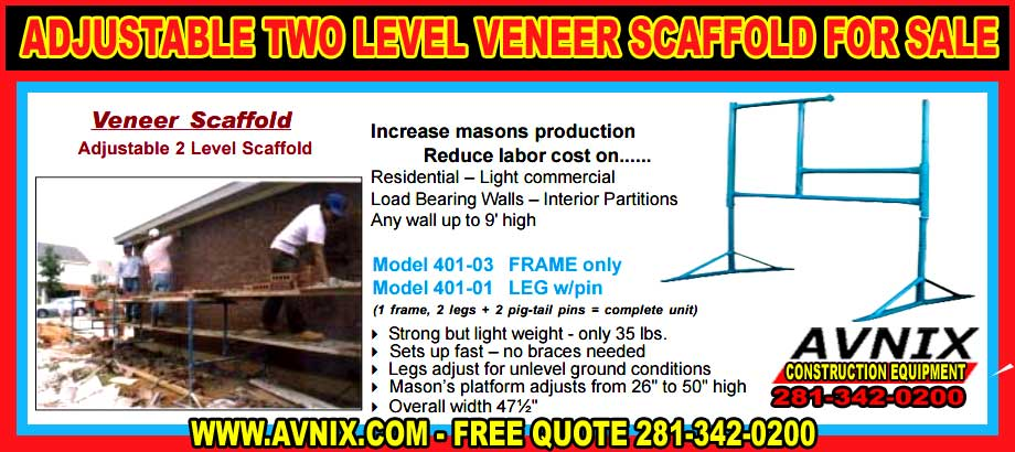 Discount Veneer Scaffolding For Sale