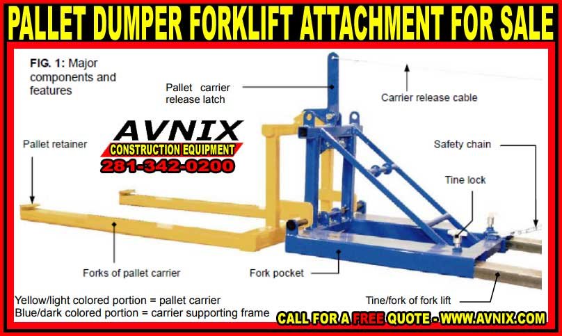 Commercial Forklift Pallet Dumper Attachment For Sale At Discount Pricing