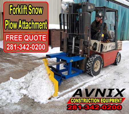 Forklift Snow Plow Attachment For Sale Cheap Discount Pricing