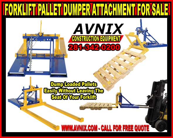 Heavy Duty Pallet Dumper Forklift Attachment On Sale Now!