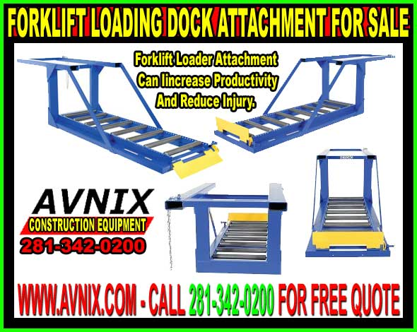 Discount Forklift Loading Dock Attachment For Sale Cheap Wholesale Prices