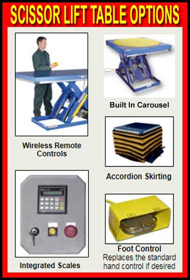 Discount Scissor Lift Table Options For Sale