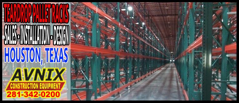 Discount Teardrop Pallet Racking Sales Installation Design In Houston, TX.