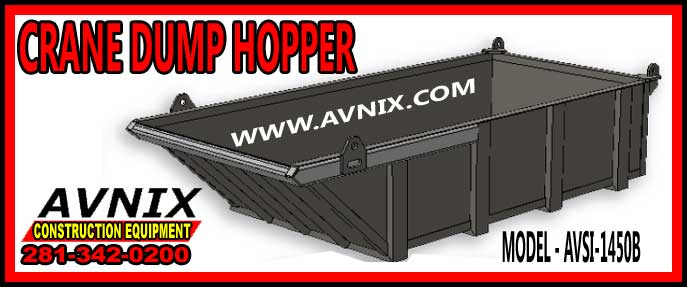 Discount Crane Dump Hopper For Sale Cheap Manufacturer Direct Pricing AVSI 1450B