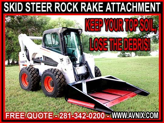 Wholesale Rock Rake Attachment For Skid Steer For Sale - Cheap Manufacturer Direct Pricing - Versa Rake