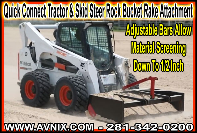 Discount Quick Connect Skid Steer Rock Bucket Attachment For Sale Cheap Manufacturer Direct Prices Made 100% In America