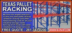 Houston, Texas Pallet Rack Installation Sales Service In Dallas, San Antonio, Corpus Corpus Christi & Houston, Texas
