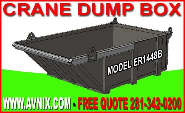 Crane Dump Box For Sale Factory Direct Guarantees Lowest Price